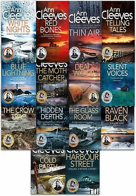 Ann Cleeves Collection TV Vera Stanhope and Shetland Series Tales14 Books Set