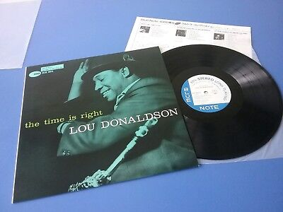 Lou Donaldson / The Time Is Right/blue Note Japan Press,toshiba Bst 84025 Nm Lp