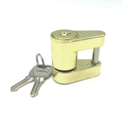 Gold Plated Universal Trailer Hitch Coupler Lock Key Fastener 1/4''