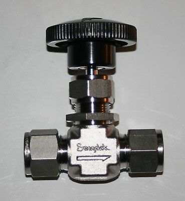 "1/2"" OD Tube 316ss Needle Valve (5000 Psig @ 100F) Swagelok SS-1RS8"