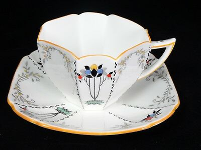 Vintage Art-Deco Shelley Queen Anne Shape Tea Cup & Saucer - Teacup