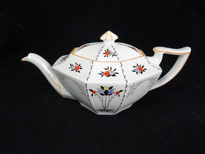 Vintage Art-Deco Shelley Queen Anne Shape Teapot  -  Tea Pot