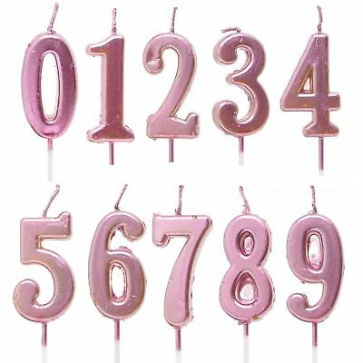 Birthday Number Candles 0-9 Cake Topper Party Decorations