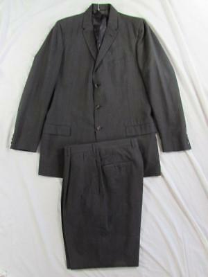 Vtg 50s 60s Capps 2 Pc Wool Suit Hollyood Jacket & Pants VLV Mod Patterned
