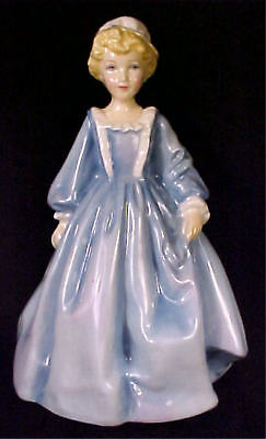 "Royal Worcester ""grandmother's Dress"" Figure #3081 In Blue"