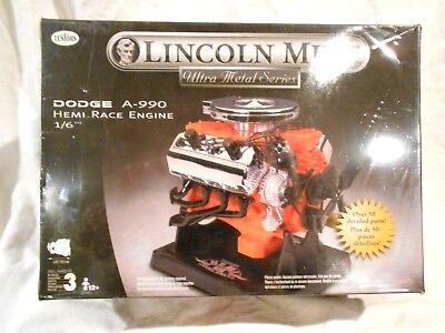 Testors Lincoln Mint Dodge A-990 Hemi Race Engine 1/6 scale Plastic Model-Sealed