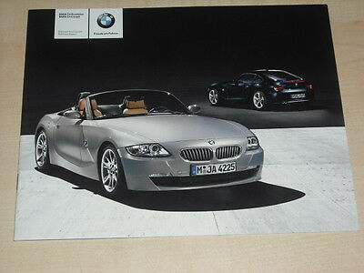 00028) BMW Z4 Roadster Coupe Edition Exclusive Sport Prospekt 2008