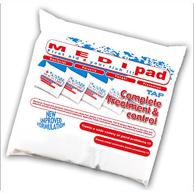 2x Tap Medi Pad - First Aid for your fish - Treats Most Common Pond Problems