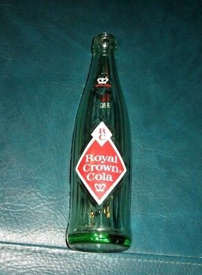 Rare Vintage RC Royal Crown Cola - Diamond - Glass Beverage Soda Bottle 10 oz