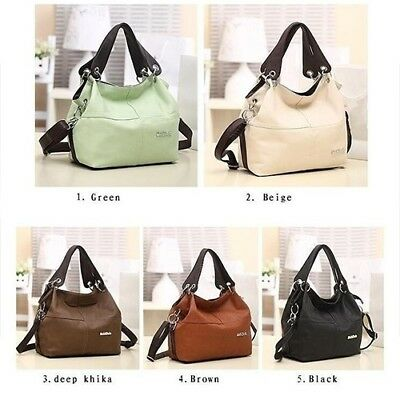 Women Vintage Faux Leather Fashion Handbag Shoulder Bags Tote Bag CB