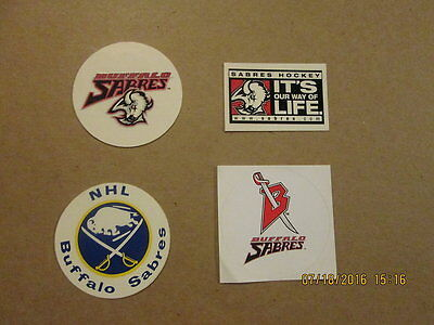 NHL Buffalo Sabres Vintage Lot of 4 Hockey Stickers