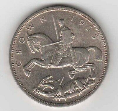 1935 Great Britain Silver Crown, Nice Original Uncirculated       bk2