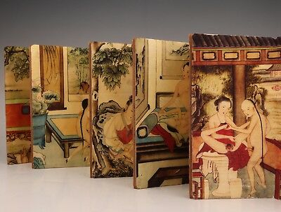 Japanese Style Paper Book Old Hand-Painted Men Women Love Work Private Collec