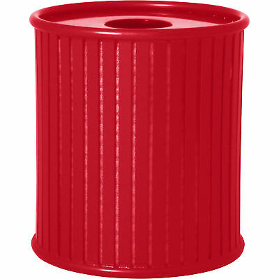UltraSite 36-Gal Augusta Trash Receptacle Frame with Flat Top Lid and Liner- Red