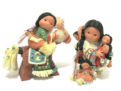 """Friends Of The Feather """"Love Four All"""" & """"Ready Two Ride"""" Enesco Figurines 1997"""