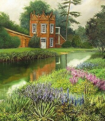 1.5x2 DOLLHOUSE MINIATURE PRINT OF PAINTING RYTA 1:12 SCALE LANDSCAPE REAL ART