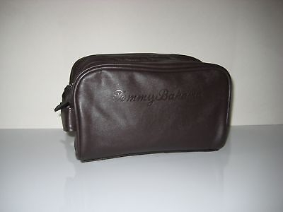 Tommy Bahama Men Kit Shaving Travel Toiletry Case Bag Zip Closure BROWN New 7b62db6f09