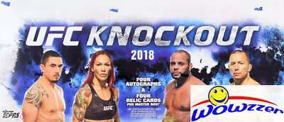 2018 Topps UFC Knockout Factory Sealed HOBBY Box- 8 AUTOGRAPH/RELIC+8 PARALLELS