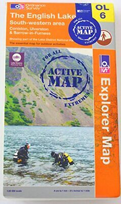 The English Lake District: SW AREA OS Explorer Active ... Sheet map, folded Book