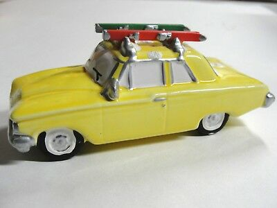Dept 56 Snow Village - Heading For The Hills 54897 Yellow Car Wbx No Sleeve