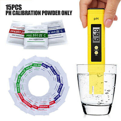 15Ps PH Meter Buffer Solution Powder 250ml Calibration Water Test 4.01/6.86/9.18
