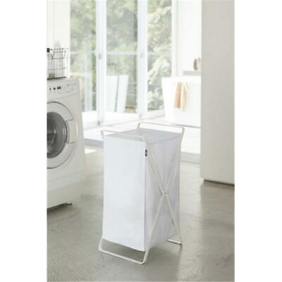 YAMAZAKI home 2484 14.2 x 11.8 in. Tower Laundry Basket - White
