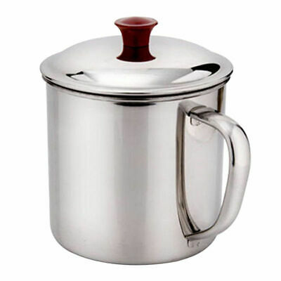 380/200ML Stainless Metal Camping Mug Cup Outdoor Drinking Coffee Tea Handle Cup