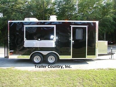NEW 8.5x18 8.5 X 18 Enclosed Concession Food Vending BBQ Trailer