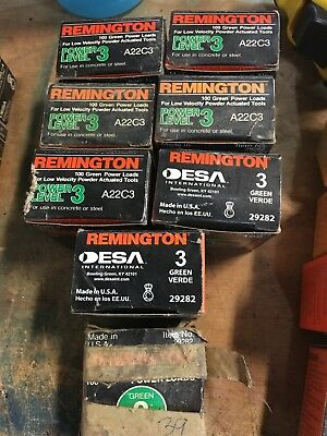 (739) unused Remington Power Loads Green Level 3 A22C3
