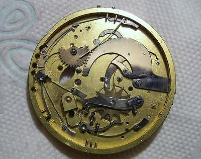 Spares: Antique Part of Repeater Pocket Watch Movement 42.5 mm For Spares