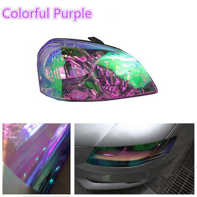 Headlight Film Car Light Lamp Chameleon Color Changing Tint Vinyl Wrap Sticker
