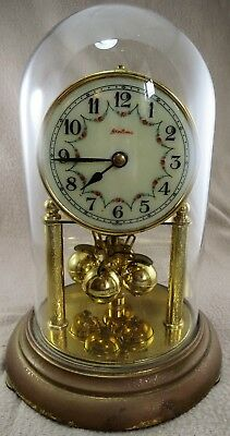 Kern & Sohne Miniature (MIV)  Anniversary Clock with Glass dome (for repair)