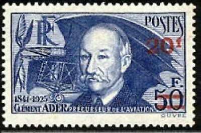 """FRANCE STAMP TIMBRE YVERT N° 493 """" CLEMENT ADER AVION 20F SUR 50F """" NEUF xx LUXE"""