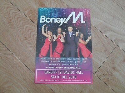 BONEY M - lovely colour tour flyer (Mint)