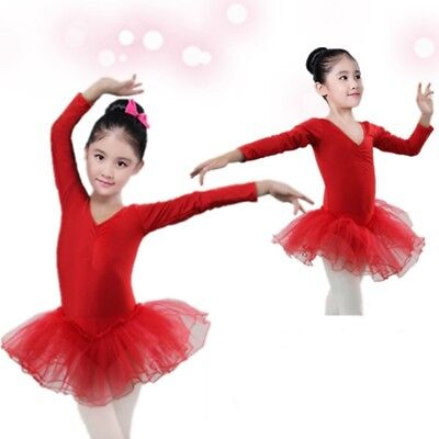 Toddler Girls Gymnastics Leotard Dress Dancewear Ballet Dance Costume Tutu Skirt