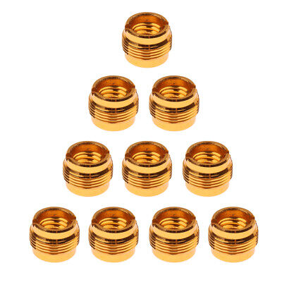 10pcs 3/8 to 5/8 Screws Clip Adapter for Microphone Stand Tripod Mount Gold