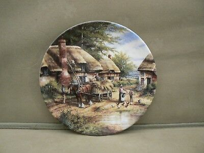 Wedgwood Country Days Ltd Ed Collector Plate - Mending The Thatch