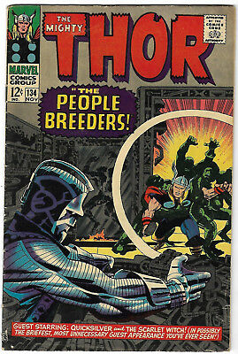 """1966. """"The Mighty THOR"""". Marvel comic Vol.1 #134. VG"""