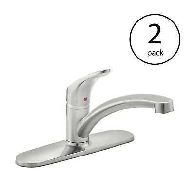 American Standard Colony PRO 1 Handle Kitchen Faucet, Stainless Steel (2 Pack)