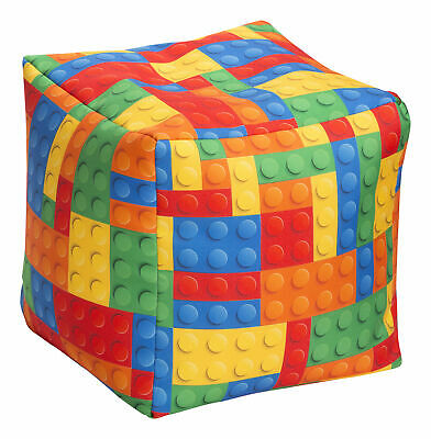 Zoomie Kids Frostley Bricks Pouf