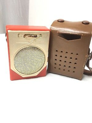 VTG Pocket Radio Transistor With Case Made In Japan