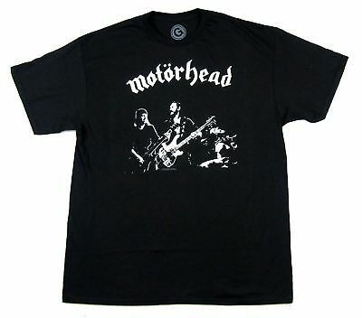 Motorhead B&W Band Lemmy Stage Pic Black T Shirt New Official Merch