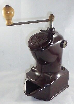 Stylish Vintage German DMR Bakelite Coffee Grinder 1920's.
