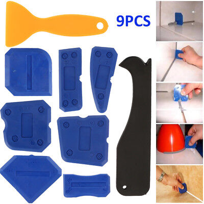 9pc Sealant Smoothing Sink Silicone Grout Spreader Shower Caulk Finishing Tools