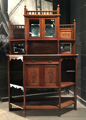 Can Deliver Vintage Antique Arts And Crafts Mahogany Sideboard Dresser Chiffon
