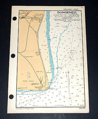 DUNGENESS, Kent - WW2 vintage Map 1943