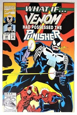 S125. WHAT IF? #44 by Marvel 9.0 VF/NM (1992) VENOM POSSESSED THE PUNISHER