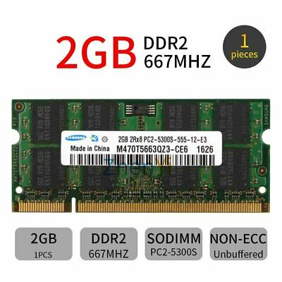 2GB 2GO 1GB 1Go PC2-5300 DDR2 667MHz 200Pin CL5 SO-DIMM mémoire pour Samsung