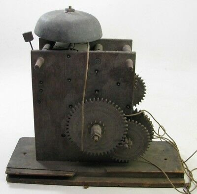 Antique Wooden Works Grandfather Weight Driven Clock Movement Parts