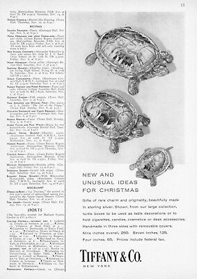 1959 Sterling Silver Handmade Turtle Boxes photo Tiffany & Co. vintage print ad